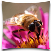 Square Cushion Cover Bee is collecting honey pattern cotton polyester Home Decorative 16/18/20 inches 9 style