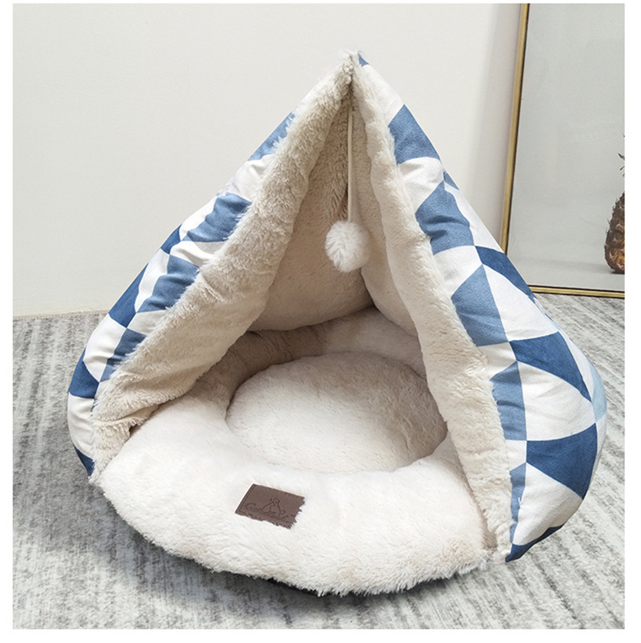 Swell 2019 Geometry Rhombus Soft Pet Bed For Cat Warm Deep Sleeping Dog Mat Cat Funny House Teddy Chihuahua Kennel Puppy Bed Pet Products From Baiyulanflo Inzonedesignstudio Interior Chair Design Inzonedesignstudiocom