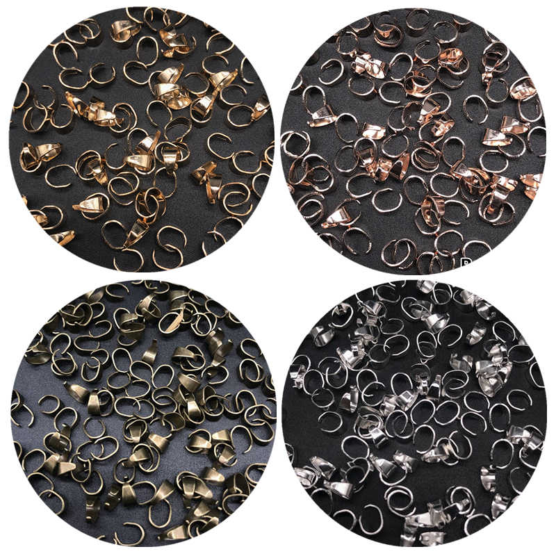 Findings Cheap 5*7mm 50pcs/lot Metal Zinc Alloy DIY Jewelry   Accessories For Necklace Bracelet Opening Linkers Making Wholesale