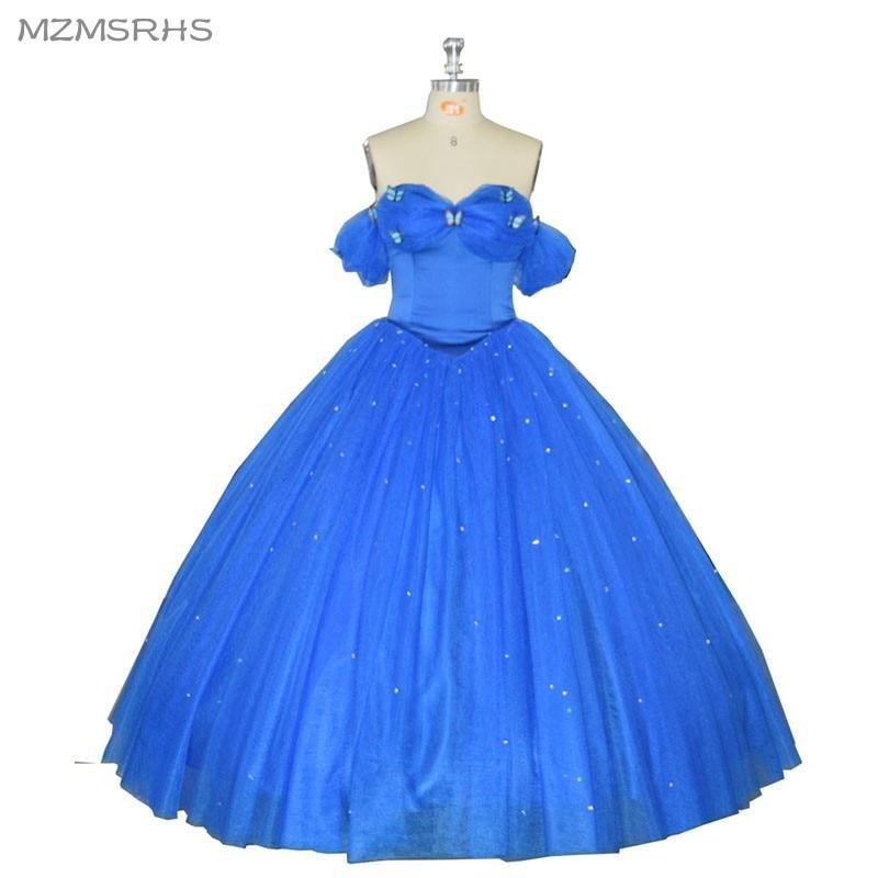 2019 Neuer Stil 2017 Blau Graduation Dresses Ballkleider Weg Von Der Schulter Korsett Hand Made Blumen Süße 16 Kleider Vestidos De 15 Anos Weich Und Leicht Weddings & Events