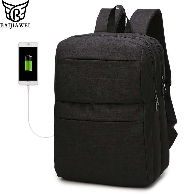 9f1277340b75 Baijiawei Многофункциональный USB зарядки Рюкзаки большой Ёмкость Для  мужчин путешествия рюкзак легкий тонкий Досуг сумка для ноутбука купить на  AliExpress