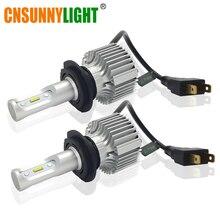 цена на CNSUNNYLIGHT All in One Car LED Headlights Bulb H7 H4 H11 9005 9006 9012 H1 H3 880 H13 9004 9007 H16 Light 60W 8000LM DC 12V 24V