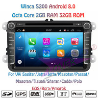 Winca S200 Android 8.0 Car DVD Player Radio For VW Caddy Polo EOS Sharan T5 Bora Amarok Magotan Beetle Stereo GPS Navigation MP3