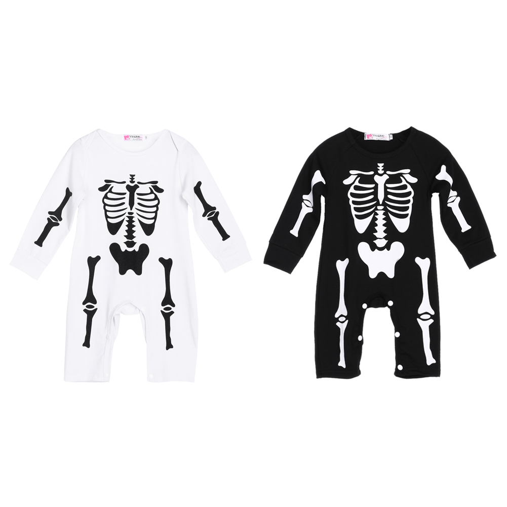 New Stylish Baby Boys Girls Skeleton One-piece Romper 0-18 Month Newborn Baby Spring Autumn Warm Long Sleeve Romper Jumpsuit