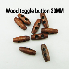 100PCS 20MM brown wooden horn toggle clothes sewing button clothing accessory coat buttons WHB-085