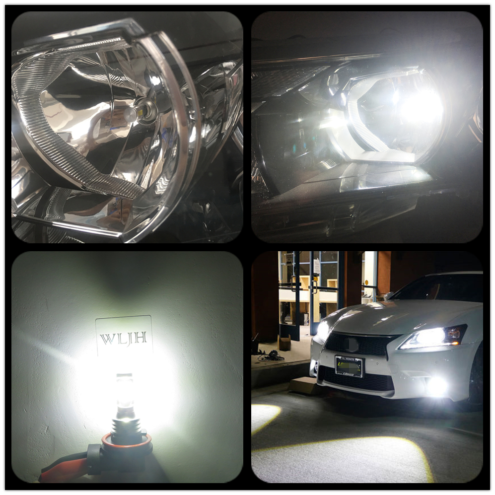 Image 5 - WLJH 2x Canbus 12V 24V H8 Led Bulb Fog Lamp Bulb H8 Light For BMW E39 E46 E60 E70 E72 E90 E92 E93 E81 E82 E84 F10 F15 F20 F25-in Car Fog Lamp from Automobiles & Motorcycles