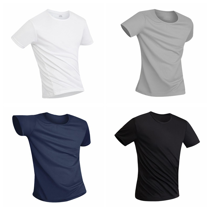 Mens Athletic Shirts Anti-Dirty Waterproof Breathable Super Soft Fabric Quick Dry Anti-Bacterial Short Sleeve T-Shirt