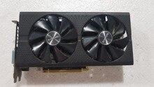 Б/у, сапфир Radeon RX580 4 Гб GDDR5 PCI Express x16 3,0 ВИДЕО игровая видеокарта внешняя видеокарта для настольных компьютеров