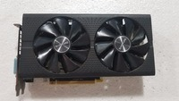 Used,Sapphire Radeon RX580 4GB GDDR5 PCI Express x16 3.0 video gaming graphics card external graphics card for desktop