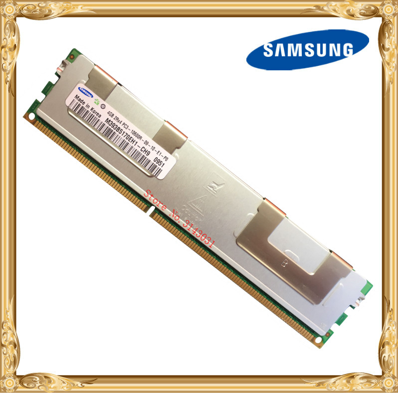 Samsung Server memory DDR3 4GB 8GB 1333MHz ECC REG Register DIMM  PC3-10600R RAM 240pin 10600 4G server memory for r410 r510 r610 r710 r720 r910 8g ddr3 1333 reg one year warranty