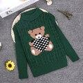 2 3 4 6 8 10Y Caráter Meninos Camisola Crianças Luva Cheia de Impressão O-pescoço Pullover Camisola de Malha Meninas KC-1547-11