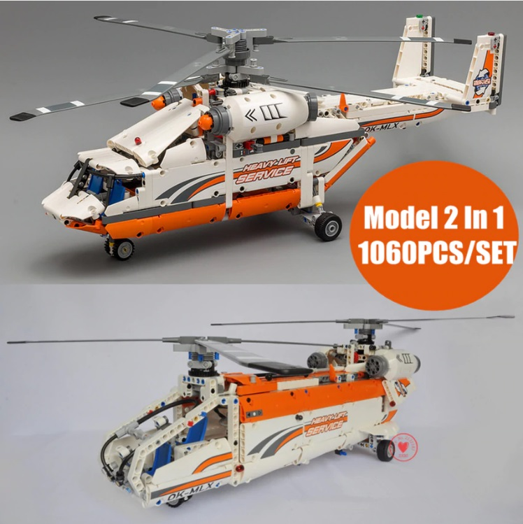 NEW technic plane rescue helicopter fit legoings technic city helicopter building blocks bricks 42052 gift kid set Boy DIY toys
