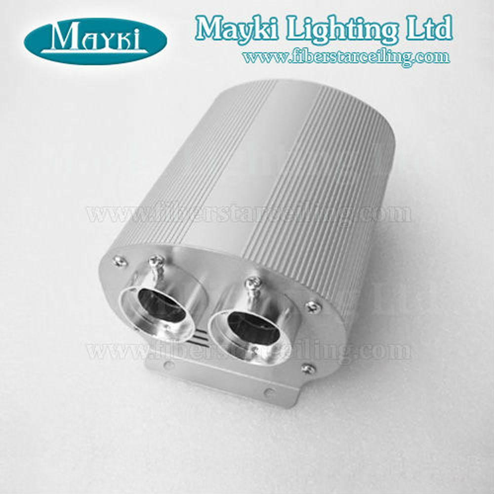 Maykit LEC-302 Fibre Optic LED Light Emitter with 2*5W Cree LED Dual Port Endcap Fiber Adpators RF Controller 12V Transformer