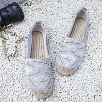 Chi Cho Straw Weaving Solo Summer Shoes Women Handmade Flat Espadrilles Top Quality Ladies Loafers Slipony