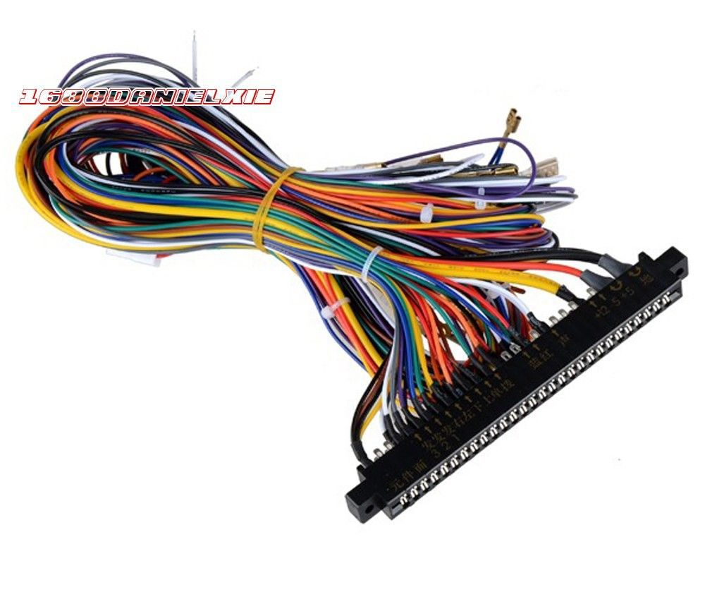 Schema Cablaggio Jamma : Arcade scheda madre cabinet filo cablaggio loom multicade cavi per