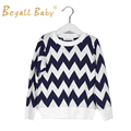 New Winter Baby Boys Chevron Style Sweater Autumn Crochet Black/Grey Waves Sweaters Pullovers Babies Clothing Children's Clothes