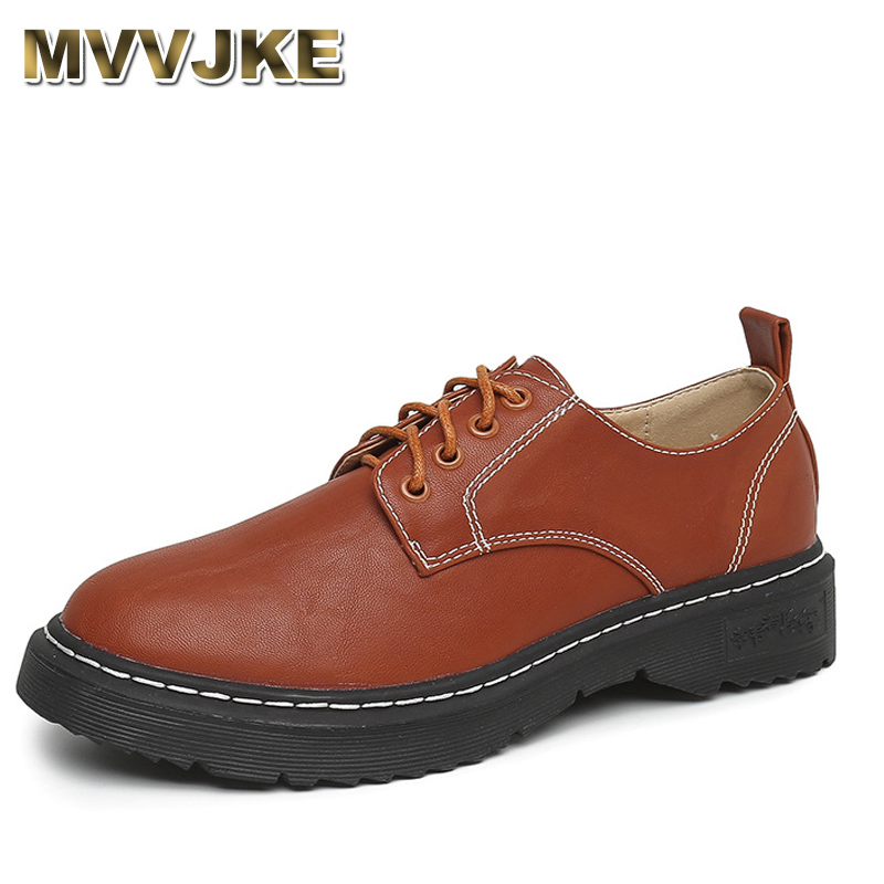 MVVJKE Oxford Shoes For Women Shoes Woman Cow Leather Martin Ankle Female Casual Shoes Flats Spring Autumn Lace-Up Zapatos Mujer forudesigns casual women flats shoes woman fashion graffiti design autumn lace up flat shoe for teenage girls zapatos mujer 2017