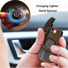 Electronic Cigarette Lighter Fidget Spinner Colorful Luminous