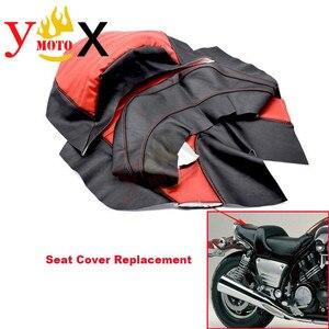 Модифицированный чехол на сиденье мотоцикла из искусственной кожи красного цвета, Водонепроницаемый Чехол на подушку, запасной чехол для ...