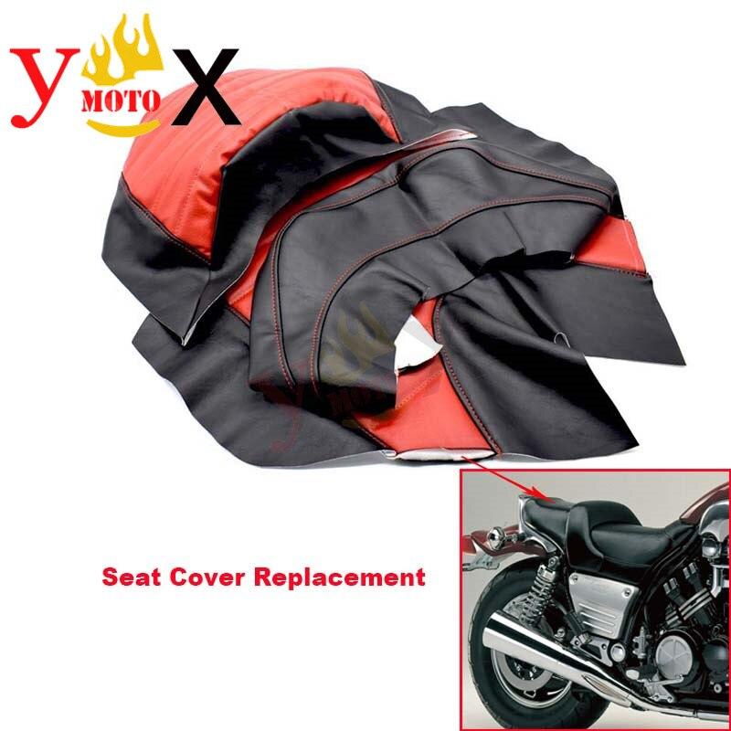 Modifié rouge PU cuir moto housse de siège coussin garde étanche remplacement pour Yamaha VMAX VMAX1200 V-MAX1200 VMAX1200