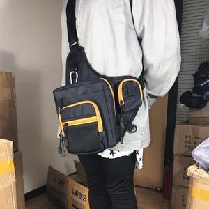 Image 5 - Fishing Sling Pack Shoulder Sling Fish Bag Canvas Waterproof Lure Tackle Bag Waist Pack Multi Purpose Bag for Fishing