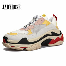 Jady Rose 2019 New Pink Women Sneakers Lace Up Platform Creepers Female Casual Flats Tenis Feminino Espadrilles Lovers Shoes
