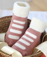 6 Pair/Pack Baby Clothing Socks 6 Color/Pack Floor Socks Infant Cute Cartton Keep Warm Cotton Socks Autumn For Baby Girl V20