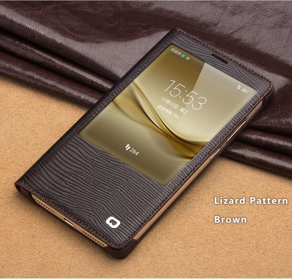 QIALINO 2016 Huawei Ascend Mate 8 Case módní vzor originální kožený potah pro huawei Mate8 Smart Case funkce probuzení