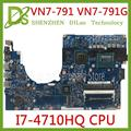 KEFU 14203-1M материнская плата для Acer Aspire VN7-791 VN7-791G mianboard i7-4710HQ оригинальная протестированная работа
