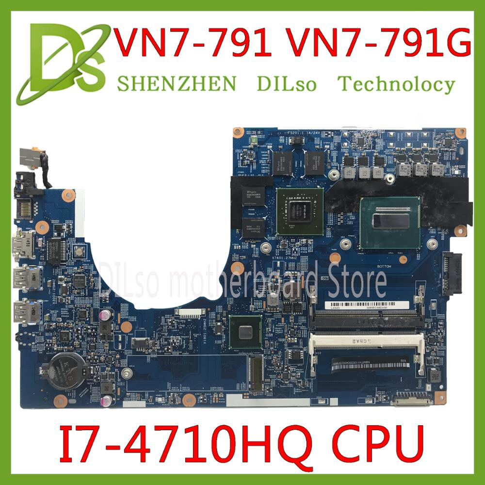 KEFU 14203-1M Motherboard For Acer Aspire VN7-791 VN7-791G Mianboard I7-4710HQ Original Tested Work