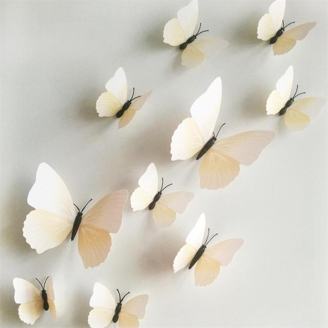 Butterfly Decor Wall Stickers 12pcs 6