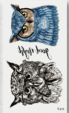 1 Sheet Owl Tattoos Stickers Arm Back Leg Body Art Trendy Large Temporary Tattoo Decal Waterproof Temporary Tattoos(China)