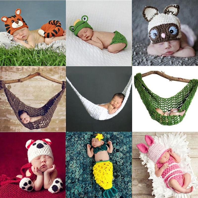 Baby Niedlichen Tier Hut Set Neugeborenen Häkeln Stricken Kleidung ...