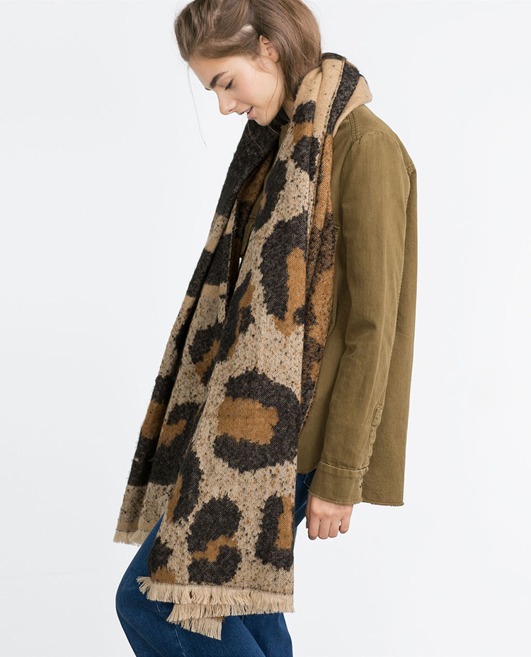 2016 Explosion New Brand Za Women Scarf Leopard Wram Pashmina Winter Thicken font b Tartan b