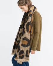 2016 Explosion New Brand Za Women Scarf Leopard Wram Pashmina Winter Thicken Tartan Blanket Shawls and Wrap Wholesale Accessory