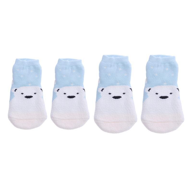 Lovely Thicken Baby Winter Warm Socks Cute Cartoon Bear Penguin Pattern Antiskid Soft Cotton Baby Boys Girls Autumn Socks
