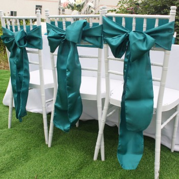 Satin Chair Sashes Bow Ties Butterfly Cover for Wedding Decoration 15cm x 275cm Home Textile Many Color Optional