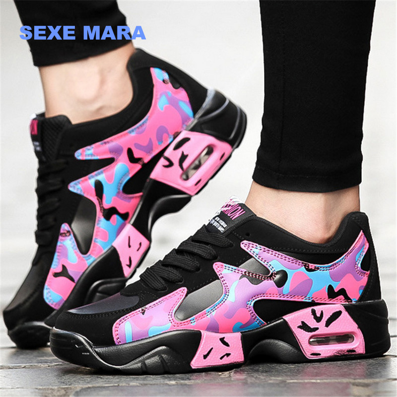 2017 Size 36-44 Running shoes for women Sneakers women shoes air Outdoor Sport Shoes woman Air cushion Trainers Jogging NC217 2017brand sport mesh men running shoes athletic sneakers air breath increased within zapatillas deportivas trainers couple shoes