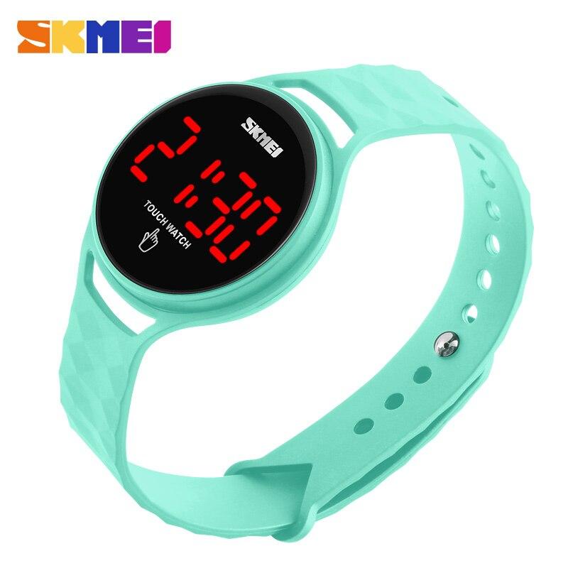 SKMEI LED pantalla táctil deporte relojes señoras reloj impermeable de lujo marca de moda Digital Reloj mujeres Relogio Feminino1230