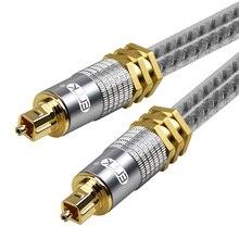 EMK высшего класса OD8.0mm Spdif оптический кабель золотистое соединение цифровой волокно оптический Toslink аудио кабель 1 М 1,5 2 3 5