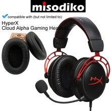 Misodiko substituição almofadas de ouvido kit para hyperx nuvem alpha fone de ouvido de jogos, peças de reparo earpads com espuma de memória