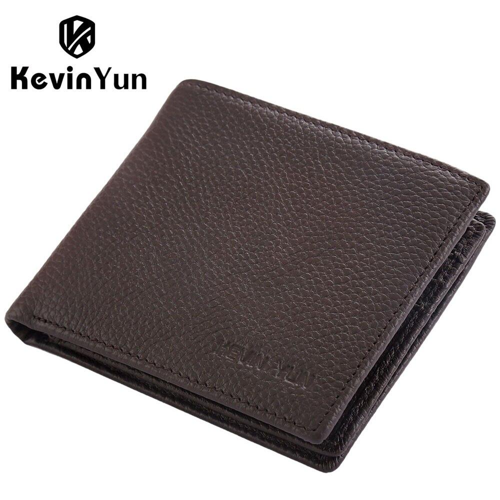 Kevin yun designer brand mannen portefeuilles lederen korte portemonnee mannelijke portemonnee kaarthouder grote capaciteitchina