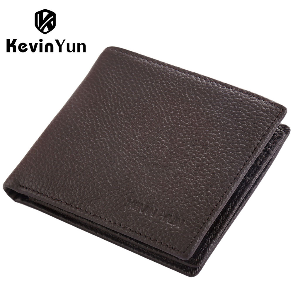 designer brand mens wallets 99f4  KEVIN YUN Designer Brand Men Wallets Genuine Leather Short Wallet Male  Business Purse Card Holder Large
