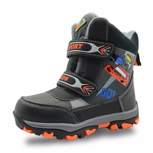 Image 2 - Apakowa winter kids snow boots mid calf bungee lacing waterproof boys boots big boys sport shoes wollen lining kids winter boots