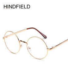 024d930bd1ce6 HINDFIELD Cheap small round nerd glasses clear lens unisex gold round metal  frame glasses frame optical men women black olhos