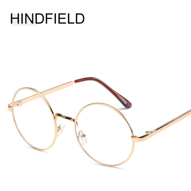 cb85f477b3 New Cheap small round nerd glasses clear lens unisex gold round metal frame  glasses frame optical