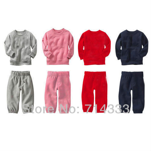 Great Deal! Free Shipping! baby long sleeve t shirt + baby pants, Baby clothing sets, children wear 4 color to choose.