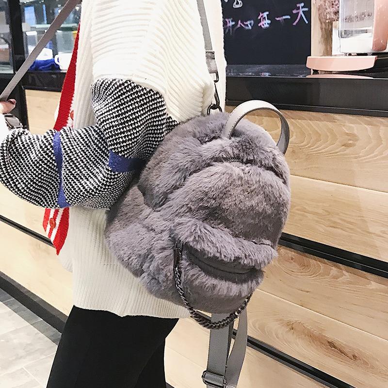 2018 зимние модные женские туфли Backpac качество Мягкие плюшевые обувь для девочек школы набор рюкзаков для женщин сумка дорожные книги рюкзак