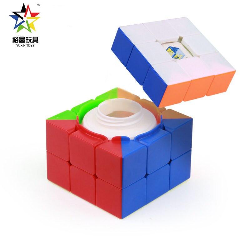 Yuxin Zhisheng Cápsula Caixa do Tesouro Mágico Cubo Cubo de Velocidade Stickerless Puzzle Cubos De Armazenamento Cubo Surpresa
