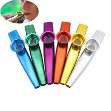 6 цветов простой дизайн легкий kazoo алюминиевый сплав металл для гитарного инструмента музыкальный инструмент для любителей музыки 12*2,5 см